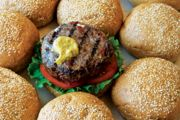 Beef Burgers with Gorgonzola Cheese and Sun-Dried Tomatoes