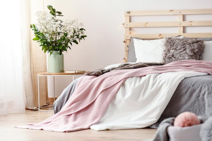 comfy pink bed