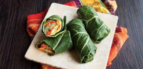 Meatless Monday: Sweet Potato Hummus Collard Wraps