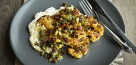 Meatless Monday: Cauliflower Steaks with Tomato Herb Relish