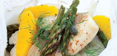 Orange Tilapia with Fennel and Asparagus