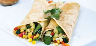 Crepes with Summer Vegetables and Herb Sauce