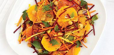 Orange, Carrot, and Beet Slaw