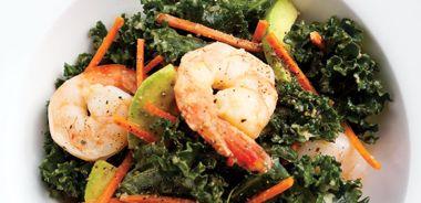 Asian Kale, Shrimp, and Avocado Salad