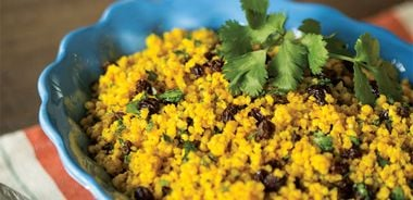 Millet with Currants and Turmeric