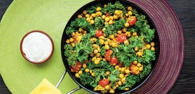 Chickpea Kale Stir-Fry