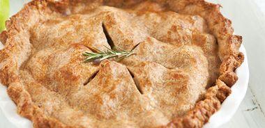 Apple Cheddar Rosemary Pie