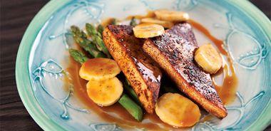 Spicy Tofu with Zesty Banana-Orange Sauce