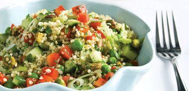 Quinoa Spring Salad with Simple Cider Vinaigrette