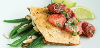 Arctic Char with Strawberry Salsa and Green Beans
