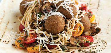 Spaghetti and Mackerel Meatballs