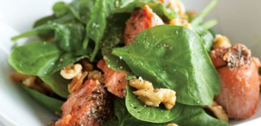 Citrus, Spinach, and Salmon Salad