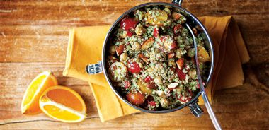 Everything but the Kitchen Sink Quinoa Salad