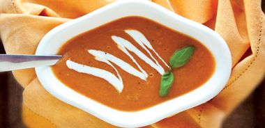 Roasted Tomato and Leek Soup