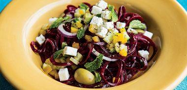 Beet Noodle Greek Salad