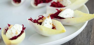 Pickled Beet Endive Boats