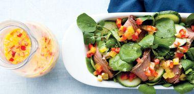 Steak Salad with Pickle-Pepper Dressing