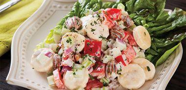 Creamy Banana-Pecan Salad