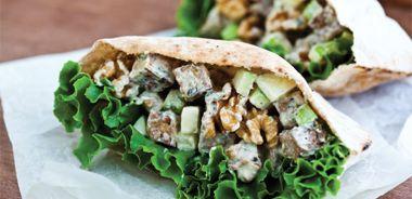Tarragon Tempeh Salad in Pita Pockets