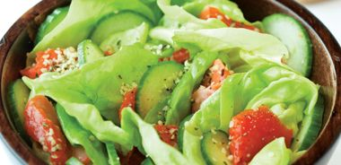 Salmon, Butter Leaf, and Avocado Salad