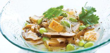 Green Tea Chicken Noodle Soup