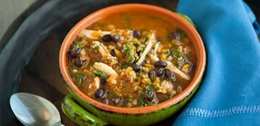 Mexican Chicken, Squash, and Toasted Millet Soup