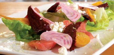 Roasted Heirloom Beet and Butter Lettuce Salad