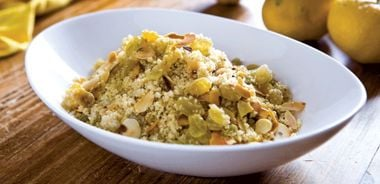 Orange Couscous with Toasted Almonds and Raisins