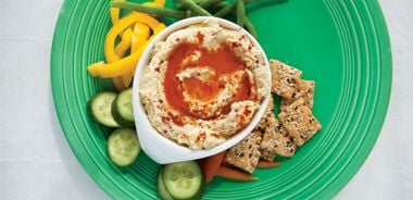 Sprouted Chickpea Hummus with Lemon and Smoked Paprika