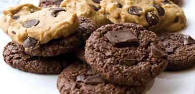 Chocolate Mint Melties / Gluten-Be-Gone Homestyle Chocolate Chip Cookies
