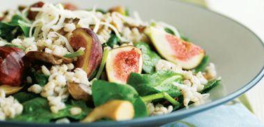 Warm Farro and Wild Mushroom Salad