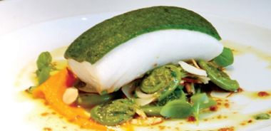 BC Halibut with Soft Herb Crust