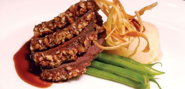 Date and Pecan-Crusted Venison