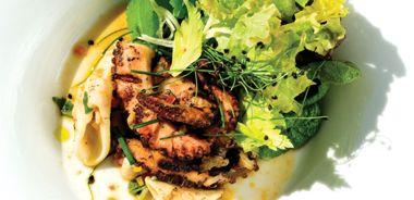 Octopus and Squid Salad with Chili Citrus Dressing