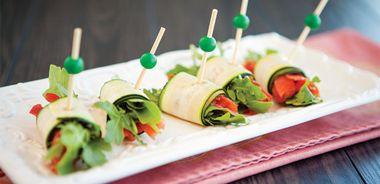 Zucchini Salmon Rolls