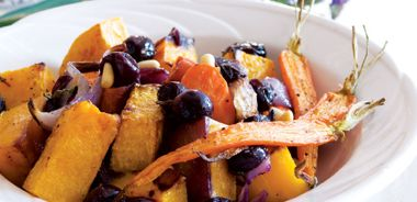 Roasted Butternut Squash and Carrots with Sage