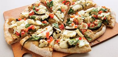 Indian Vegetable and Chickpea Pizza