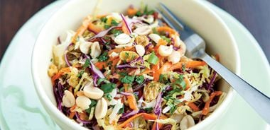 Cabbage Slaw with Miso Dressing