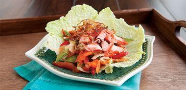 Asian Salmon Salad Lettuce Cups
