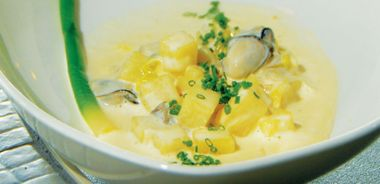 Pacific Oyster and Leek Stew