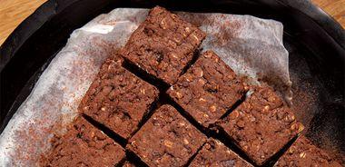 Carob Oatmeal Brownies