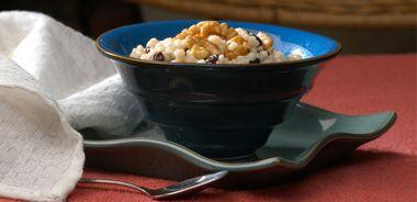 Hot Barley Breakfast with Honeyed Walnuts