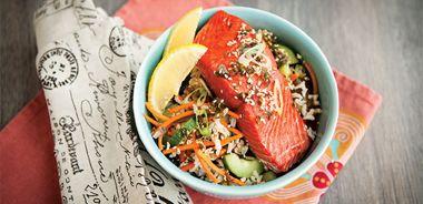 Nori Salmon with Seaweed Rice Salad