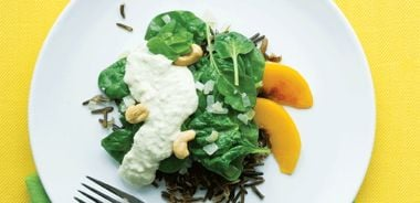 Curried Spinach with Cashews