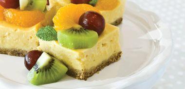 Creamy Lemon Fruit Squares