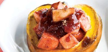 Apple and Cranberry Stuffed Acorn Squash
