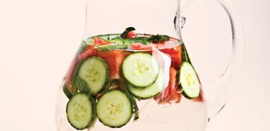 Minty Watermelon and Cucumber Refresher