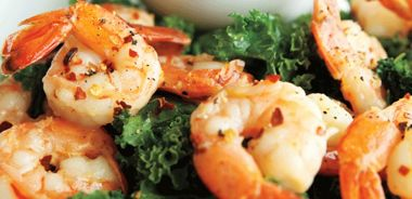 Sherried Shrimp with Romesco Sauce