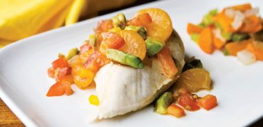 Poached Chicken with Mandarin Oranges