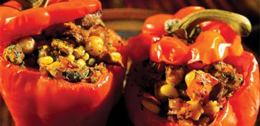 Moroccan Stuffed Red Peppers / Ras el Hanout